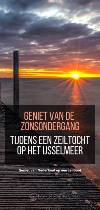 Geniet van de zonsondergang op het IJsselmeer vanaf een zeilboot