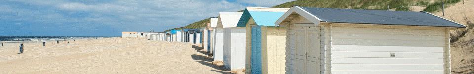 Strandhuisjes op de Waddeneilanden