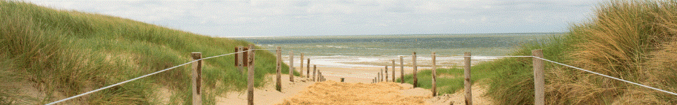 Strandopgang op een Wadden eiland