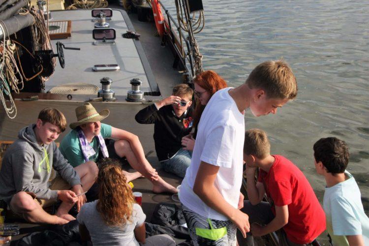 Schoolreizen aan boord van een zeilschip