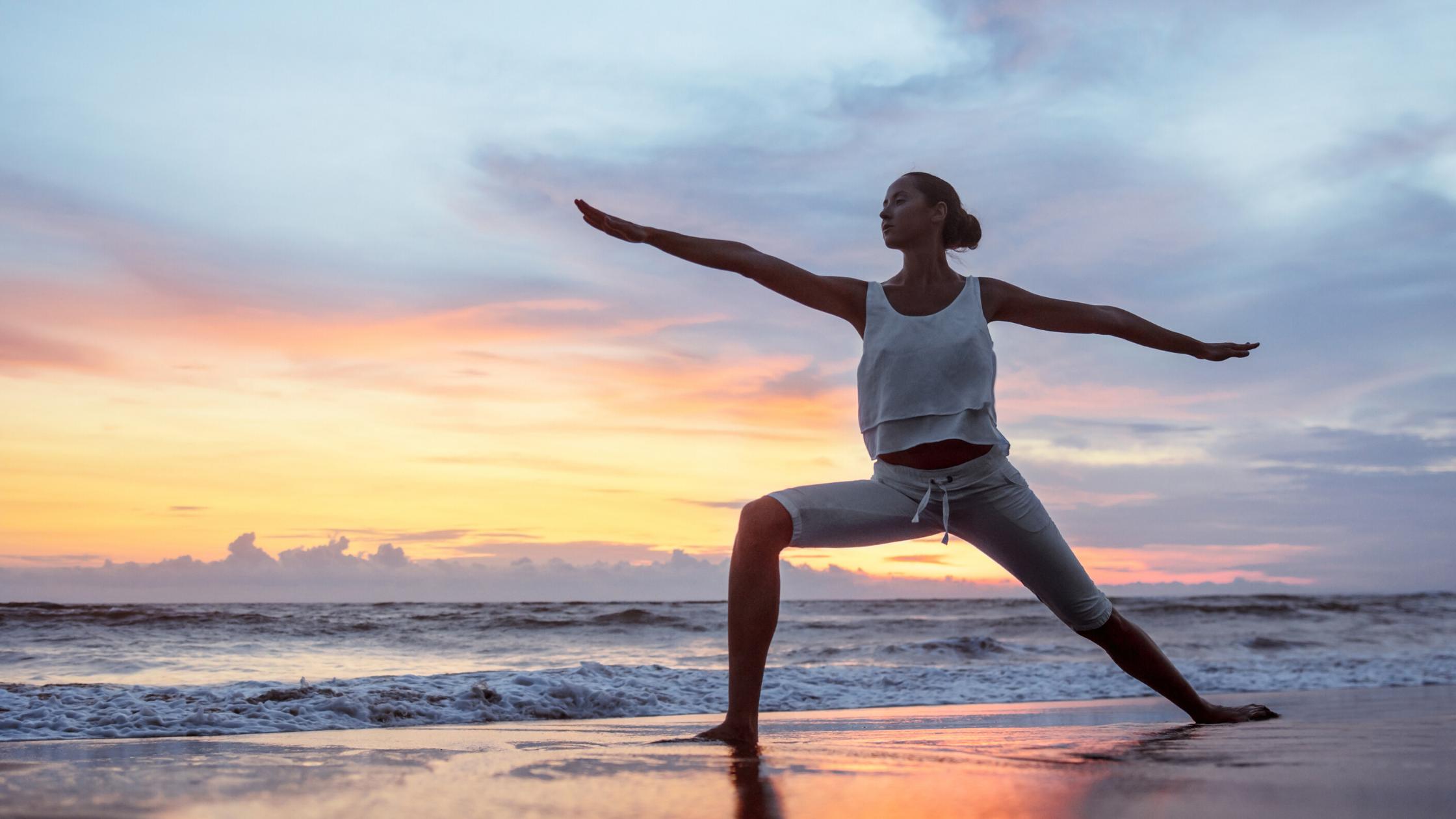 Yoga at sunrise on Terschelling
