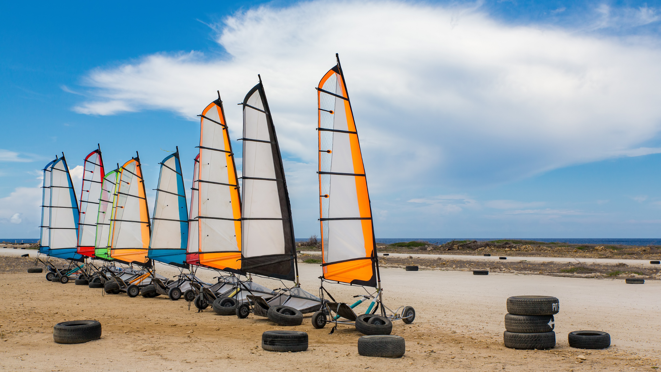 Blokarting on the beaches of Terschelling