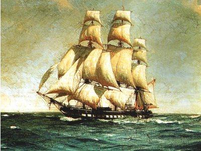 De Lutine, een Frans oorlogsschip vergaan op de Waddenzee met een enorme kostbare lading zilver en goud.